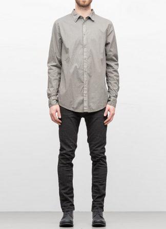 POEME BOHEMIEN men regular shirt SH 11 cotton elasthan medium grey hide m 2