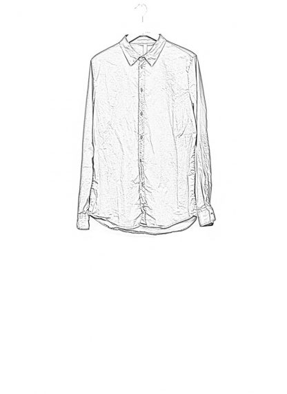 POEME BOHEMIEN men regular shirt black cotton elasthan hide m 1