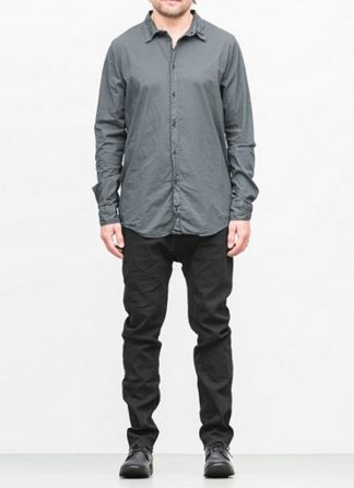 POEME BOHEMIEN men regular shirt ss18 dark grey cotton elasthan hide m 2
