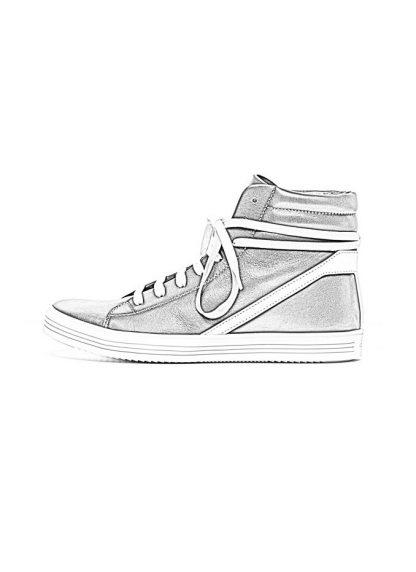 Rick Owens men fw18 sisyphus geothrasher lace up shoe sneaker black calf milk rubber hide m 1 1