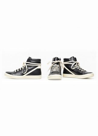 Rick Owens men fw18 sisyphus geothrasher lace up shoe sneaker black calf milk rubber hide m 2 1