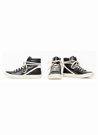 Rick Owens men fw18 sisyphus geothrasher lace up shoe sneaker black calf milk rubber hide m 2 1