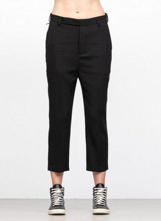 Rick Owens women fw18 sisyphus easy astaire pants wool black hide m 2