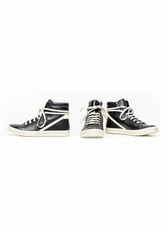 Rick Owens women fw18 sisyphus geothrasher lace up shoe sneaker black calf milk rubber hide m 2