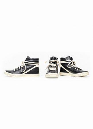 Rick Owens women fw18 sisyphus geothrasher lace up shoe sneaker black calf milk rubber hide m 2