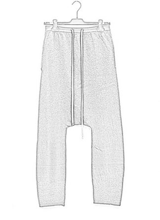 Rick Owens women fw18 sisyphus knit pants drawstring long cashmere dark dust hide m 1