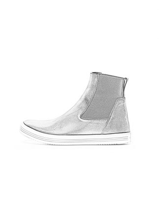 Rick Owens women fw18 sisyphus mastodon elastic shoe boot sneaker black calf milk rubber hide m 1