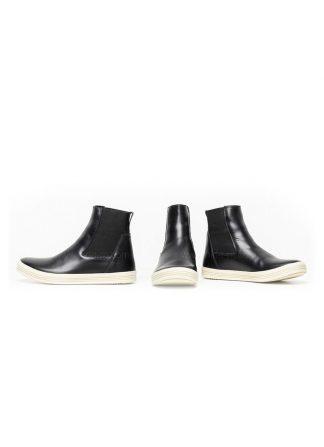 Rick Owens women fw18 sisyphus mastodon elastic shoe boot sneaker black calf milk rubber hide m 2