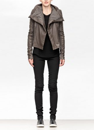 Rick Owens women fw18 sisyphus padded jacket soft lamb leather dark dust hide m 2