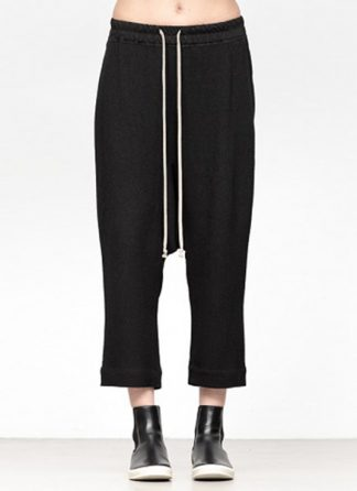 Rick Owens women fw18 sisyphus woven cropped pants viscose silk black hide m 2