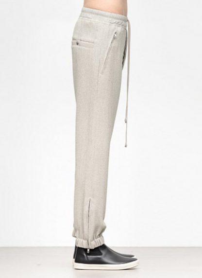 Rick Owens women fw18 sisyphus woven track pants viscose silk pearl hide m 3