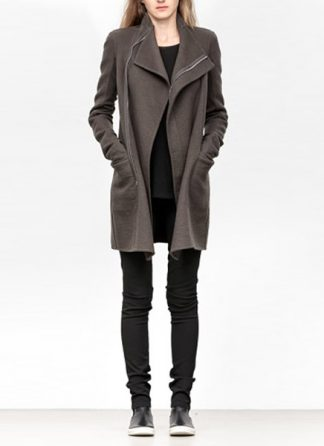Rick Owens women fw18 sisyphus zipped eileen coat cashmere dark dust hide m 2