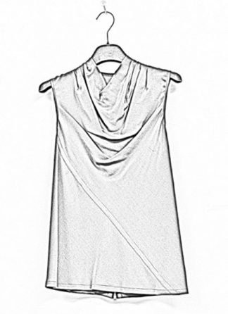 Rick Owens women ss19 babel bonnie top silk blujay hide m 1