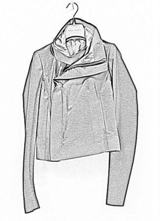 Rick Owens women ss19 babel clean biker jacket viscose cotton silk blujay hide m 1