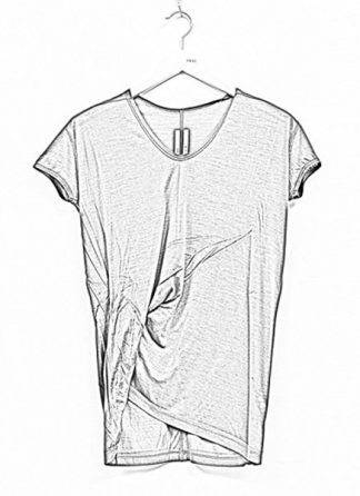 Rick Owens women ss19 babel hiked tee tshirt top silk dust hide m 1