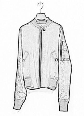 Rick Owens women ss19 babel jacket flight bomber shirred silk black hide m 1