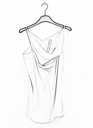 Rick Owens women ss19 babel naska top silk oyster hide m 1