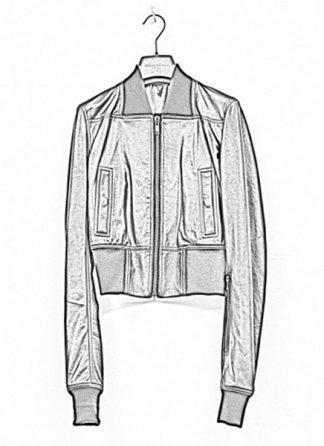 Rick Owens women ss19 babel ribwaist bomber jacket soft lamb leather black hide m 1