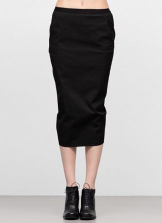 Rick Owens women ss19 babel soft pillar short skirt cotton spandex black hide m 2
