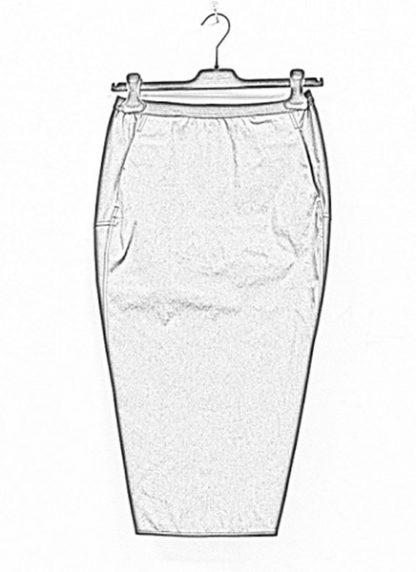 Rick Owens women ss19 babel soft pillar short skirt cotton spandex blujay hide m 1