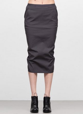 Rick Owens women ss19 babel soft pillar short skirt cotton spandex blujay hide m 2