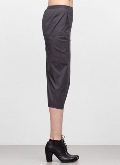 Rick Owens women ss19 babel soft pillar short skirt cotton spandex blujay hide m 3