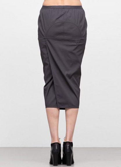 Rick Owens women ss19 babel soft pillar short skirt cotton spandex blujay hide m 4