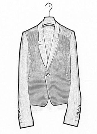 Rick Owens women ss19 jacket short blazer tux cotton silk black hide m 1