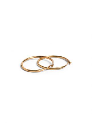 Werkstatt Muenchen hoop earrings fine hammered gold diameter 2cm m4512 900 000 gold 22k hide m