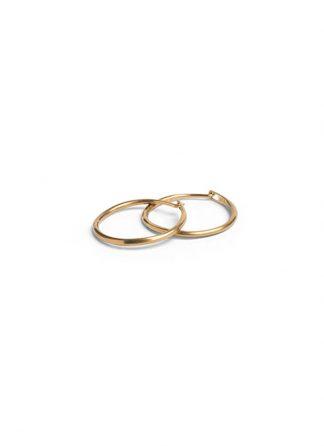 Werkstatt Muenchen hoop earrings super fine gold m4501 900 000 gold 22k hide m