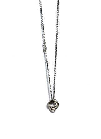 Werkstatt Muenchen necklace four rings m3731 925 sterling silver hide m