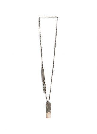 Werkstatt Muenchen necklace tag hammered m3006 925 sterling silver hide m
