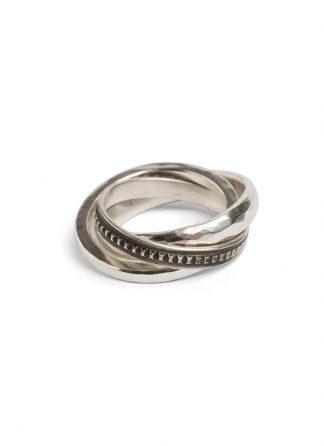Werkstatt Muenchen ring forever hammered m1417 925 sterling silver hide m