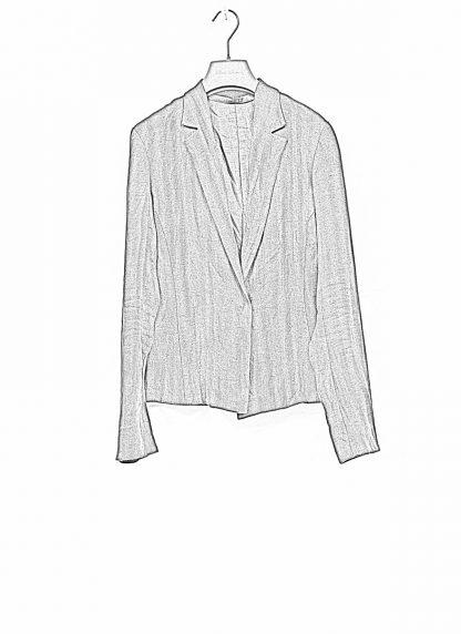 m.a macross maurizio amadei women short blazer jacket damen frauen jacke JW182 linen black hide m 1