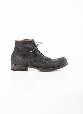 m.a maurizio amadei men one leather piece ankle boot shoe schuh S1A2 stag deer reverse leather coal hide m 2