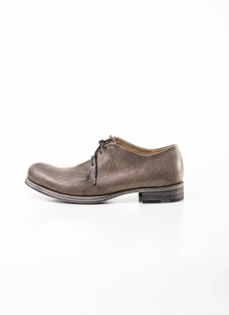m.a maurizio amadei men one leather piece derby shoe schuh S1A1 VI1.3 hand painted calf leather coal hide m 2