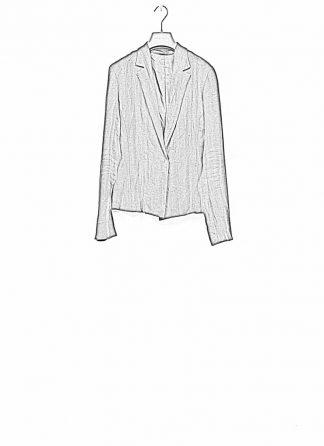 m.a maurizio amadei ss19 women short blazer jacket JW182 linen black hide m 1