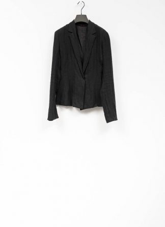 m.a maurizio amadei ss19 women short blazer jacket JW182 linen black hide m 2