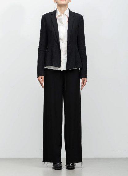 m.a maurizio amadei ss19 women short blazer jacket JW182 linen black hide m 3