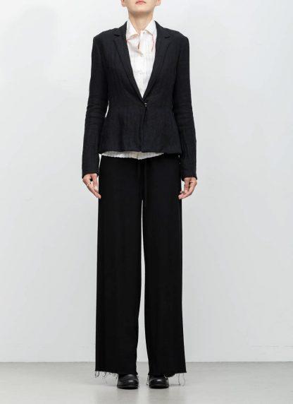 m.a maurizio amadei ss19 women short blazer jacket JW182 linen black hide m 4