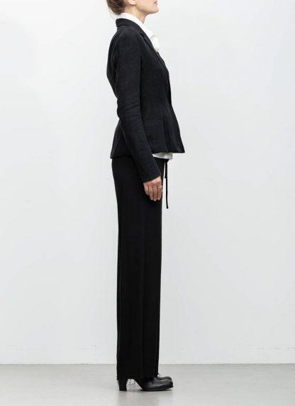 m.a maurizio amadei ss19 women short blazer jacket JW182 linen black hide m 5