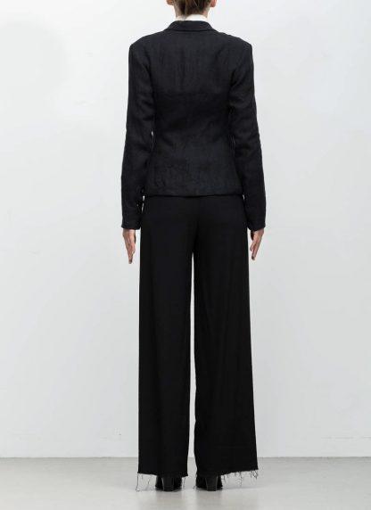 m.a maurizio amadei ss19 women short blazer jacket JW182 linen black hide m 6