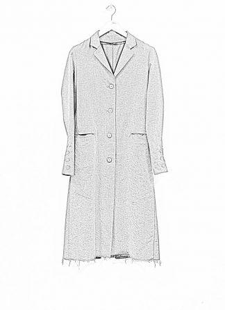 m.a maurizio amadei women 4 button back slit coat damen mantel CW112 WLC wool linen cotton military grey hide m 1