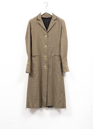 m.a maurizio amadei women 4 button back slit coat damen mantel CW112 WLC wool linen cotton military grey hide m 2