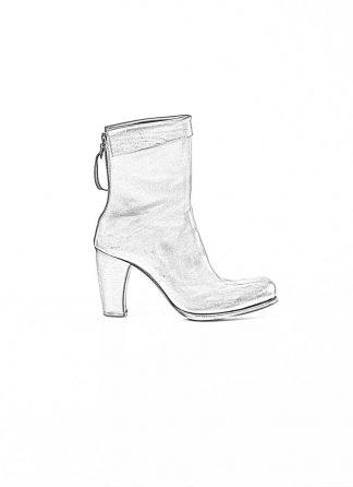 m.a maurizio amadei women back zip high heel short boot shoe schuh stiefel SW7N21Z vachetta cow leather black hide m 1
