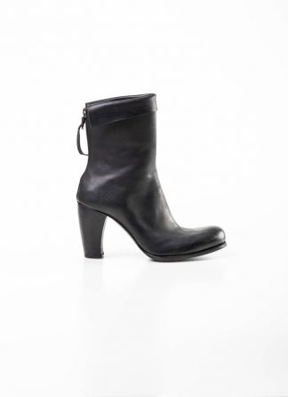 m.a maurizio amadei women back zip high heel short boot shoe schuh stiefel SW7N21Z vachetta cow leather black hide m 2