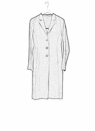 m.a maurizio amadei women fitted 3 button unlined coat mantel CW183 linen cupro black hide m 1