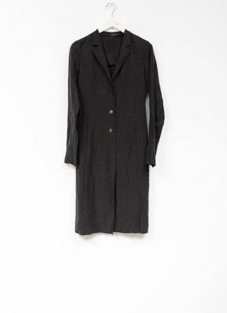 m.a maurizio amadei women fitted 3 button unlined coat mantel CW183 linen cupro black hide m 2