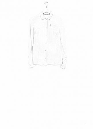 m.a maurizio amadei women fitted long sleeve short shirt HW104M cotton natural hide m 1