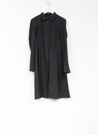 m.a maurizio amadei women raglan long shirt HW130L cotton linen ramie black hide m 2